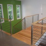Stainless steel post and timber handrail from Qld Stairs
